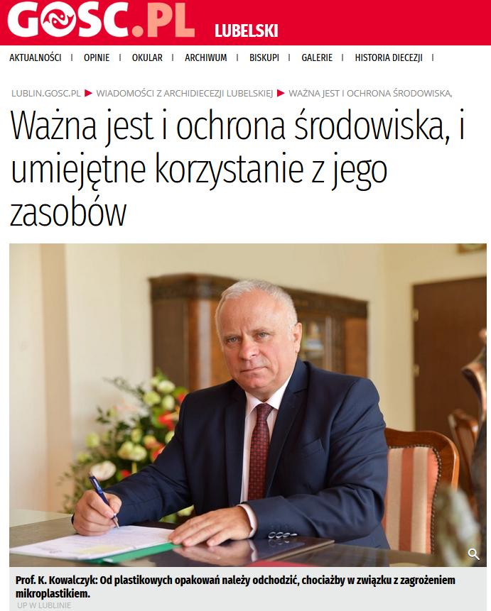 Wywiad z Rektorem Krzysztofem Kowalczykiem dla Gościa Niedzielnego
