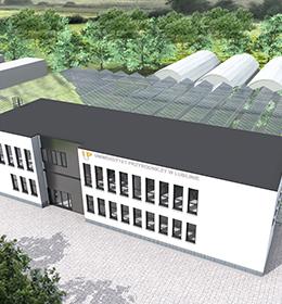 Zaproszenie na uroczystość wmurowania kamienia węgielnego pod budowę Centrum Badawczo-Wdrożeniowego i Dydaktycznego Innowacyjnych Technologii w Ogrodnictwie