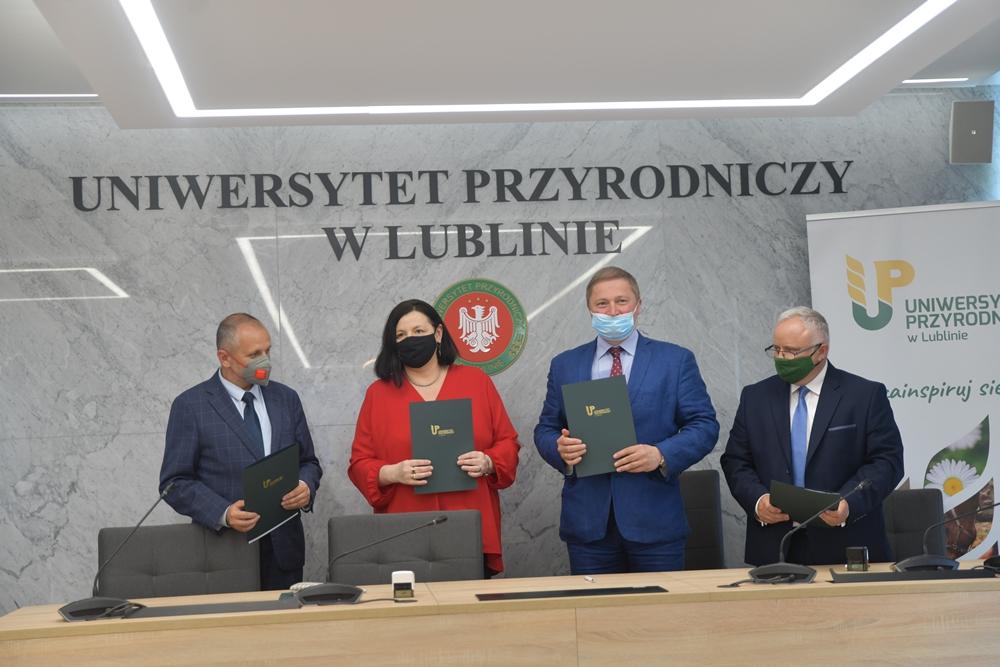 Podpisanie listu intencyjnego z III LO im. Unii Lubelskiej w Lublinie