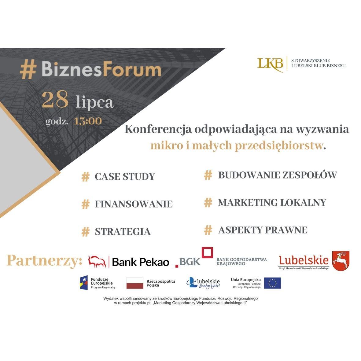 Trwa Biznes Forum - dołącz!