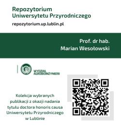 Kolekcja specjalna prezentująca dorobek prof. dr hab. Mariana Wesołowskiego