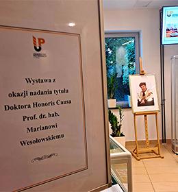 Wystawa z okazji nadania tytułu Doktora Honoris Causa UP w Lublinie prof. dr. hab. Marianowi Wesołowskiemu oraz kolekcja specjalna w Repozytorium
