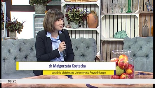 Dr Małgorzata Kostecka o diecie i odporności organizmu dla 'Poranka między Wisłą i Bugiem'